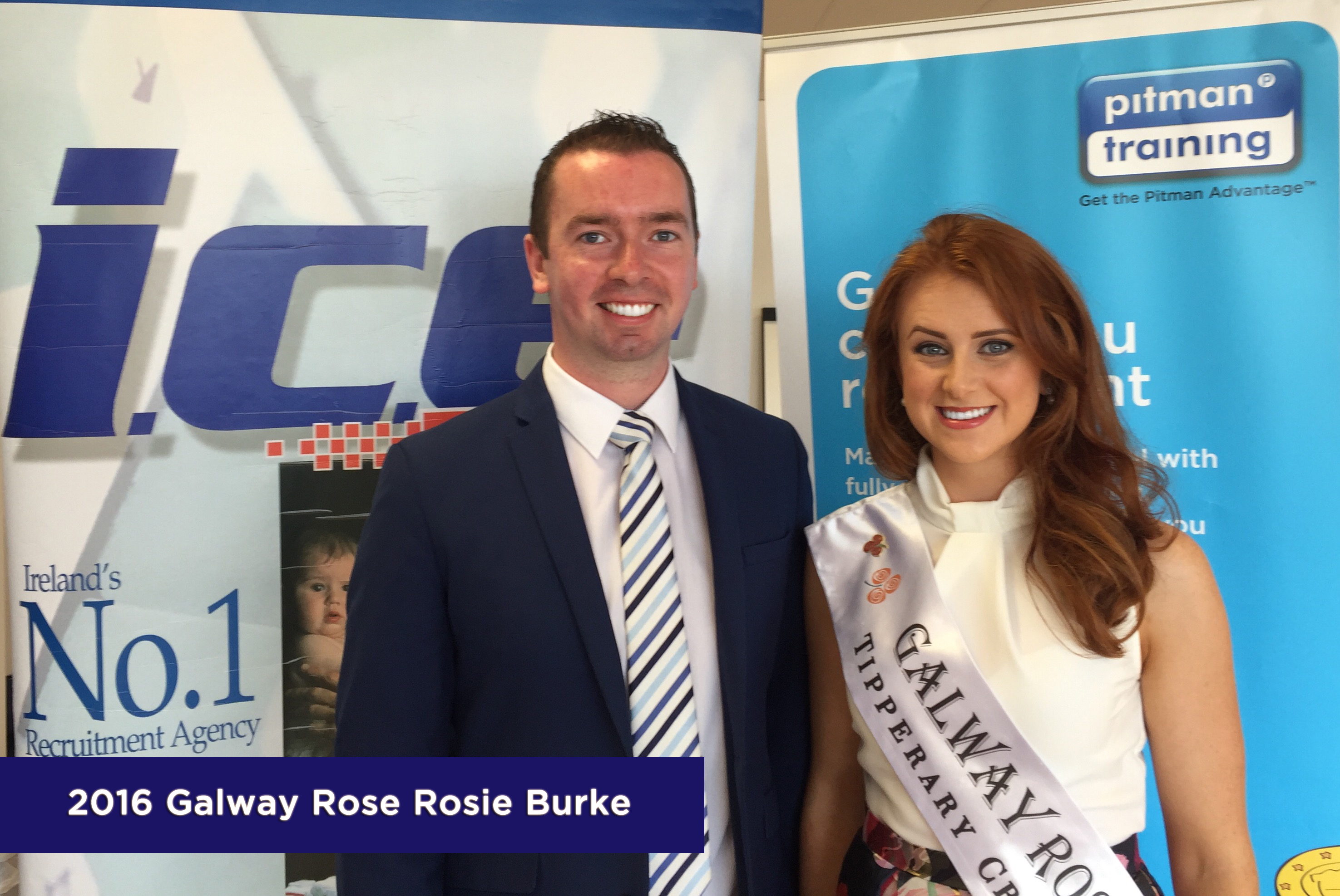 Rose Escort Tom Cranley with Galway Rose Rosie Burke