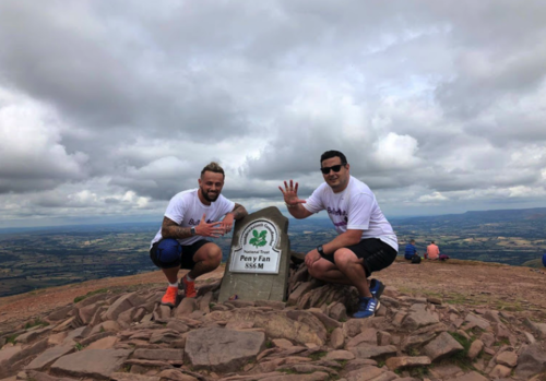 Ross and Ash at the top of Pen y Fan