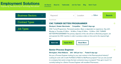 Employment Solutions Web Site