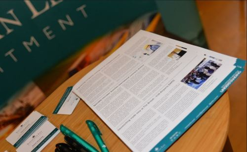 Jonathan Lee Recruitment's stationary at an event attended