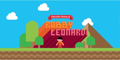 Robby Leonardi's interactive online game CV