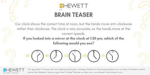 Brain Teaser - Hewett Recruitment