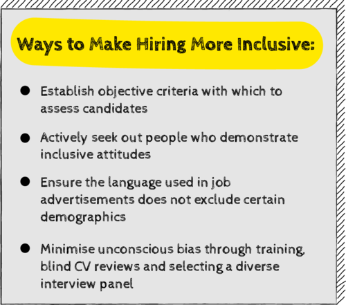 Ways to Make Hiring More Inclusive