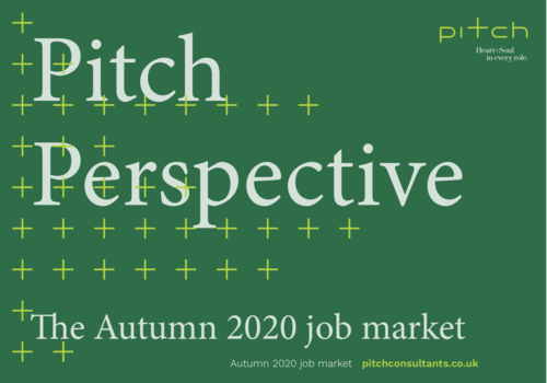 Pitch Perspective: The Autumn 2020 job market