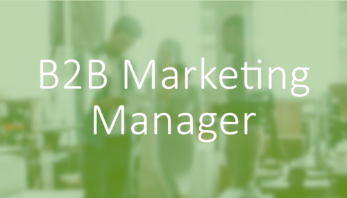 Marketing jobs in construction - B2B Marketing Manager