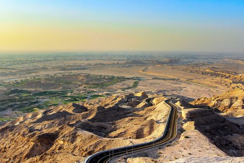 VIEW OF AL AIN FROM JEBEL HAFEET MOUNTAIN