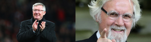 Billy Connolly and Sir Alex Ferguson