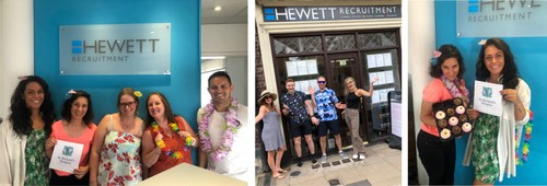 St Richards Hospice Big Beach  Party at Hewett Recruitment Worcester Kidderminster
