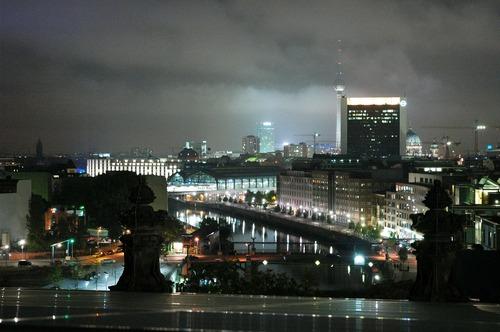 Berlijn bij nacht - werken in Berlijn
