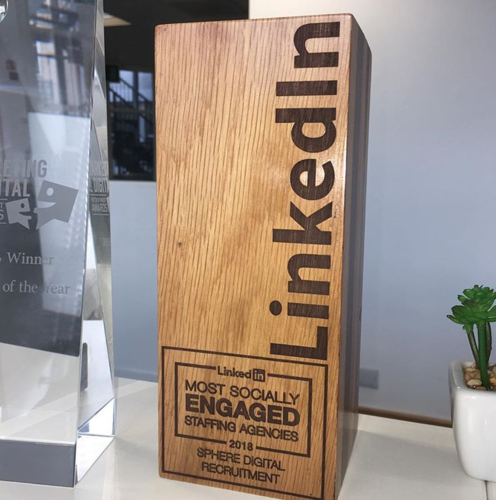 LinkedIn most socially engaged 2018 award