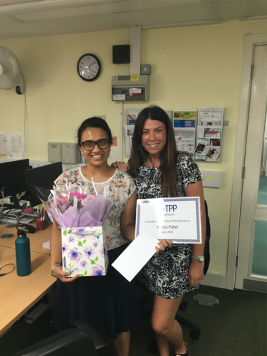 Temp of the month for June 2018