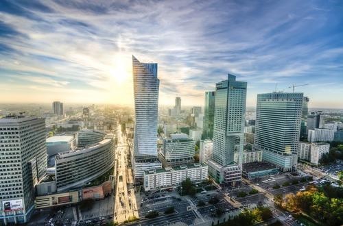Centrum Warschau - werken in Polen