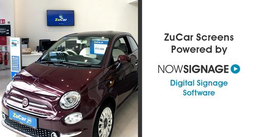 Car showroom digital signage by NowSignage