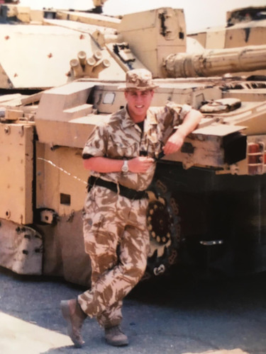 Richard in his Armed Forces uniform