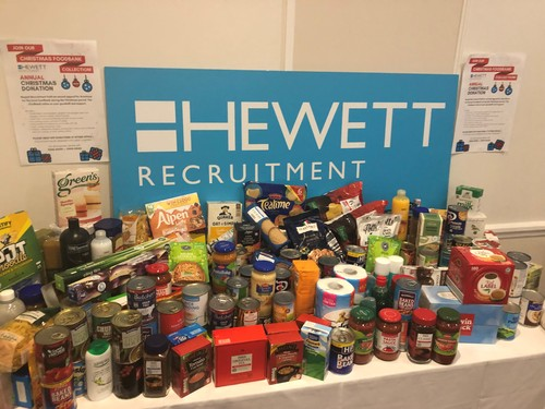 Foodbank donations generously given by Herefordshire & Worcestershire HR Professionals Conference delegates in November.