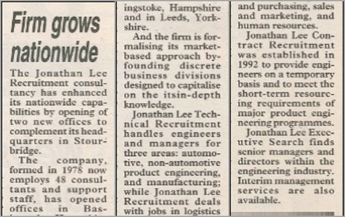 News article highlighting the Company's growth