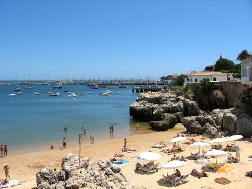 Strand van Cascais - werken in Lissabon