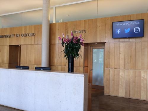 Oxord University campus digital signage