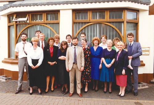 Knighton House in Stourbridge - Jonathan and the expanding team in the 1980's