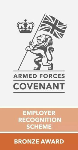 Hewett Recruitment Armed Forces Cov Employer recognition scheme bronze award