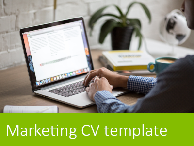 Download a marketing CV template: make CV writing easy