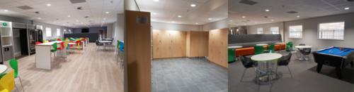 Inside IGS staff break area - Hewett Recruitment
