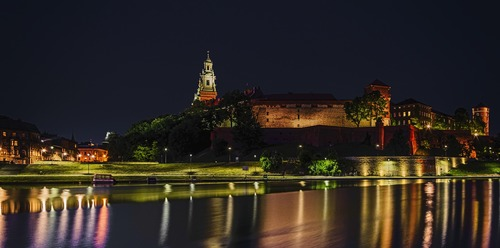 Krakau bei Nacht - Leben und Arbeiten in Polen