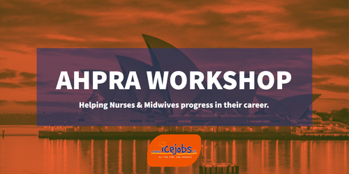 AHPRA Workshop ICE Jobs