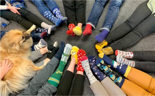 Vetro Recruitment Team Take Part Odd Socks Day For Anti Bullying Week