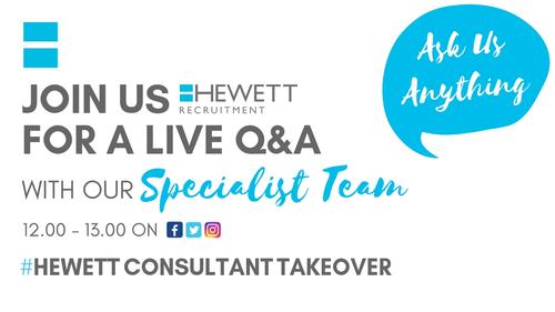 Live Q&A Sessions with Hewtt Recruitment Consultants