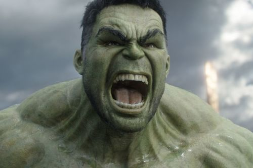 The Hulk screaming in The Avengers End Game