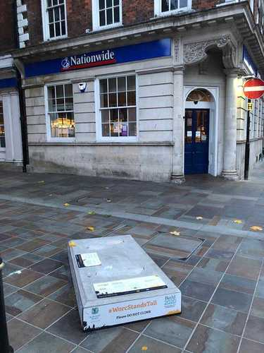 Gregory's Empty Plinth - Worcester Stands Tall