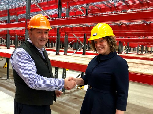 Warehouse Logistics Manager, Martin Packer working in partnership with Laura Hewett, Director at Hewett Recruitment.