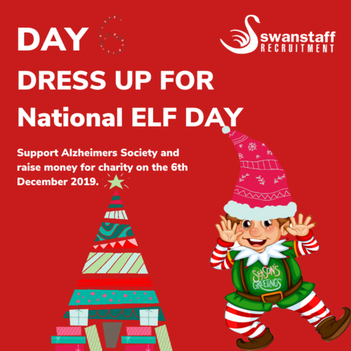 dress up for national elf day to support alzheimers society