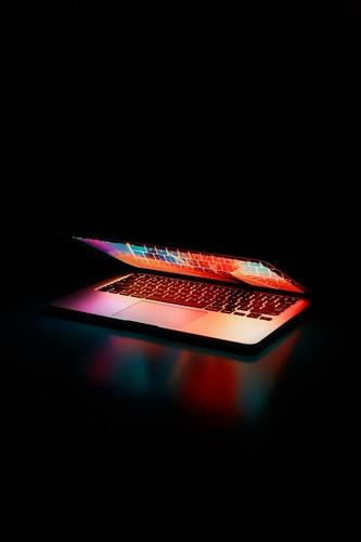 laptop lit up