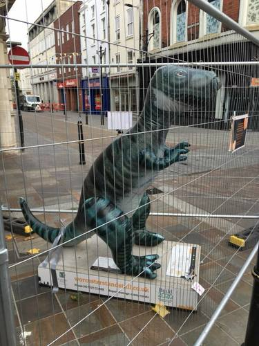 Dave the Dino replaces injured Gregory - Worcester Stands Tall