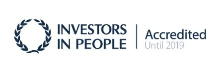 """Investors in People - IIP - accredited until 2019 logo"