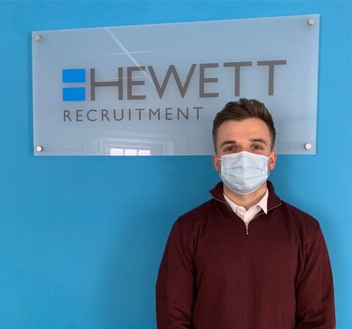 Dominic Jones, New Starter Trainee IT Recruitment Conultant at Hewett Recruitment