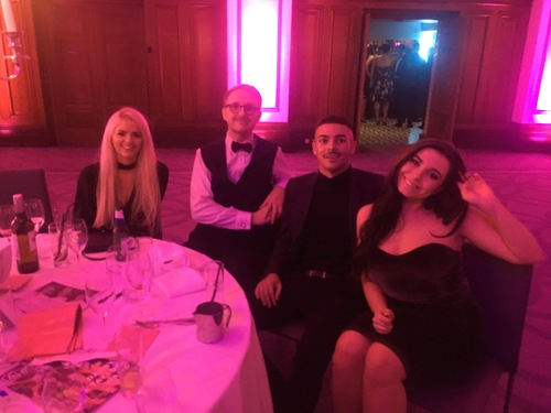 Realm Recruit team at the 2017 Manchester Young Talent Awards