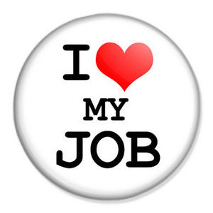 i love my job badge