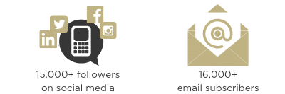 Image social followers and email subscribers statistics