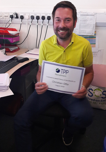 Temp of the month August 2018