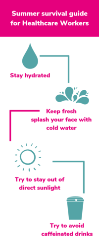 infographic summer survival guide for healthcare workers