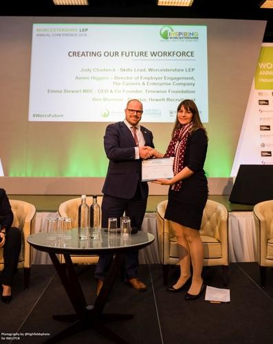 Hewett Recruitment - Ben Mannion, First Cornerstone Business Award