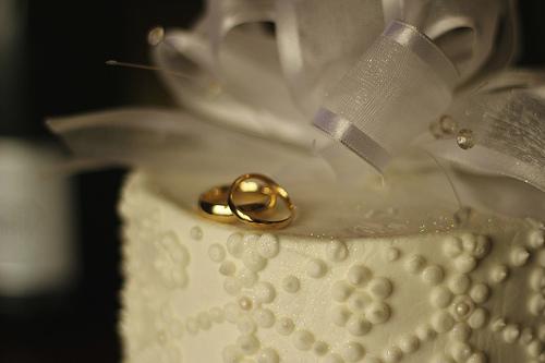 bruidstaart met ringen - werken in duitsland