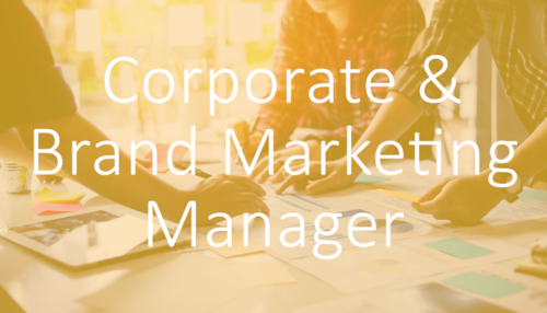 Marketing jobs in professional bodies: Corporate and Brand Marketing Manager