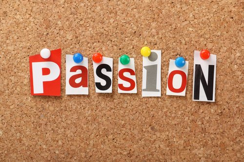 passion on pin board