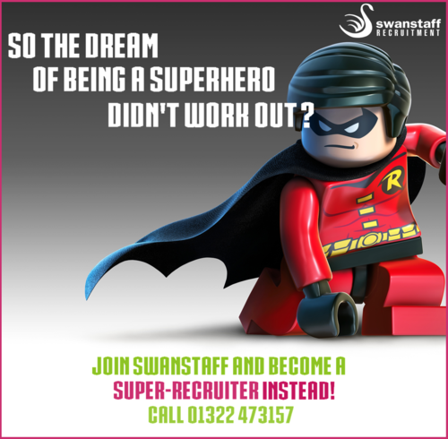 swanstaff recruitment superhero advert