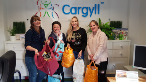 Hewett Recruitment and Cargyll's Christmas Food bank Donation