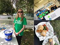 Sophie Butler volunteering at Action Against Hunger